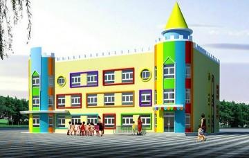 卡通幼儿园环境设计效果图
