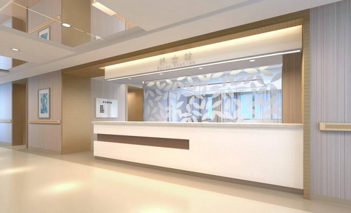 标准医院护士站装修效果图