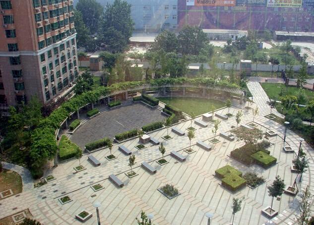 创意住宅区小广场设计效果图