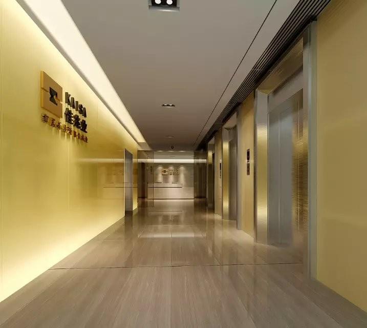 大气公司办公室走廊装修效果图