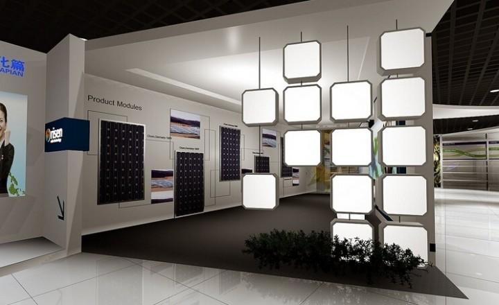 企业品牌形象展厅装修效果图