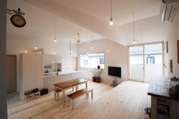 利用高低差做隔间的特色住宅0