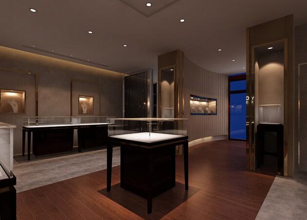 高贵品味珠宝展厅装修效果图