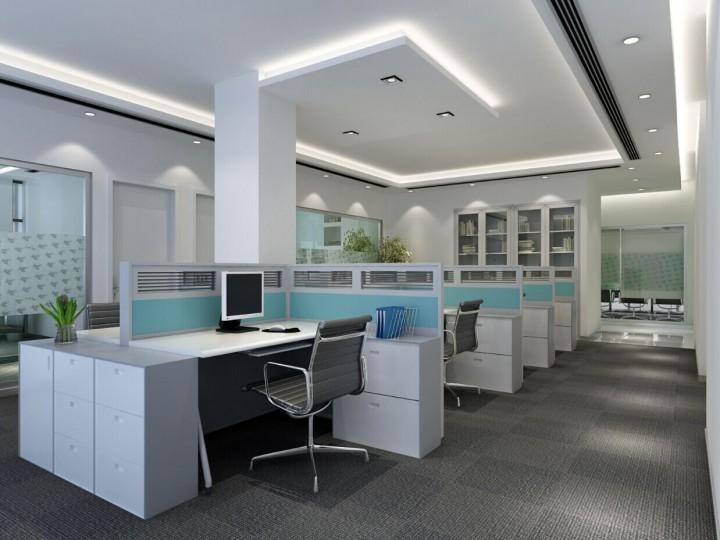 公司员工办公室设装修计效果图