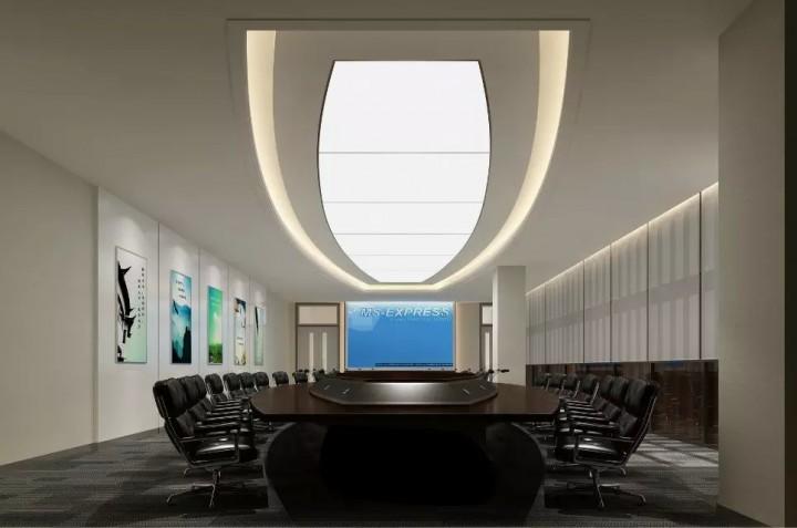 公司大型办公室装修效果图