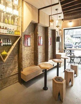 现代舒适咖啡店装修效果图