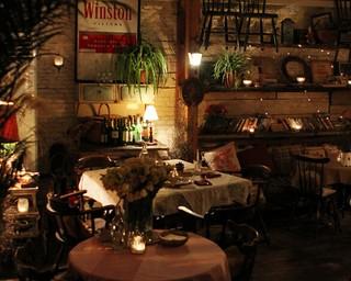 复古风格咖啡厅橱窗装修效果图