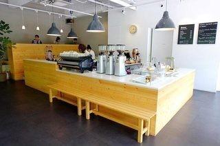 国外咖啡厅吧台装修效果图