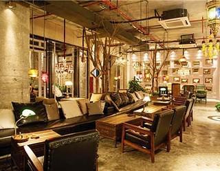 国外创意复古咖啡厅装修效果图