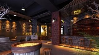 咖啡店收银台装修效果图