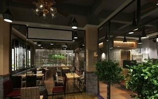 现代风格休闲咖啡厅装修效果图