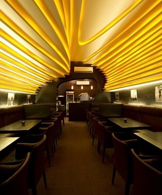 现代咖啡厅吊顶装修效果图