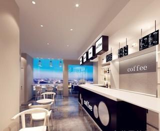 现代简约咖啡馆装修效果图
