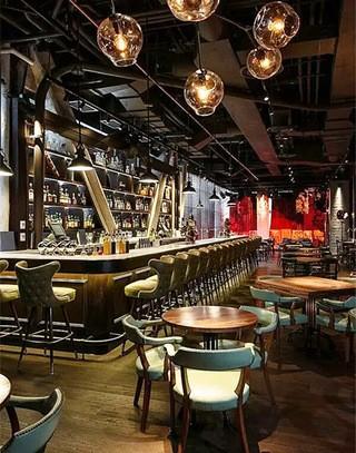 个性复古风格酒吧装修效果图