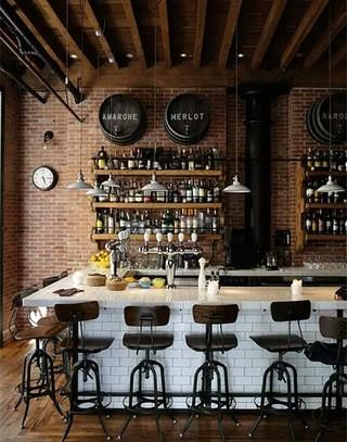 创意个性酒吧吧台设计效果图图片