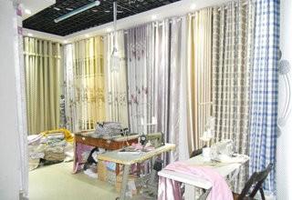 家居窗帘店装修装饰效果图