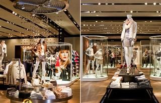现代时尚服装店装修设计效果图