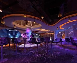 城市现代酒吧装修效果图