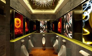 环境协调酒吧卫生间装修效果图