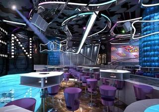 酒吧现代风格吊顶设计效果图