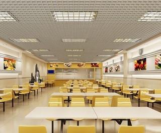 公司食堂装修效果图欣赏