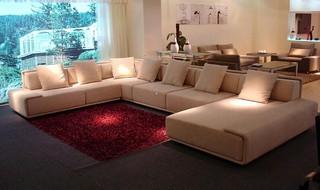 美容院大厅沙发装修装饰效果图