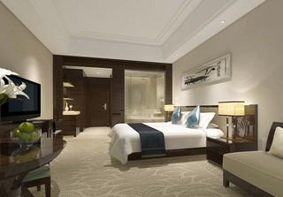 宾馆单人间装修装饰设计效果图
