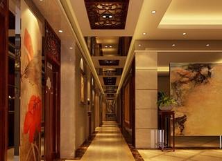 宾馆客房走道装修设计效果图