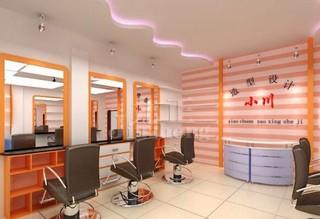 小型美发店前台装饰设计效果图