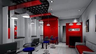 连锁美发店室内设计效果图