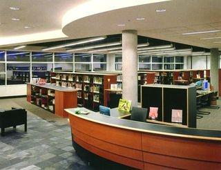 特色图书馆吊顶装修设计效果图