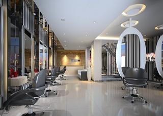 美发店室内装饰效果图实例