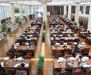高端高校图书馆装修设计图片