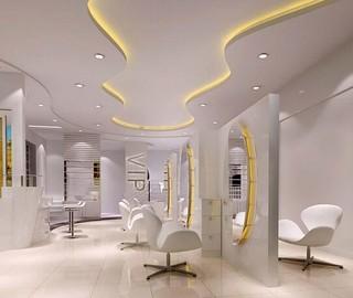 理发店室内装修装饰效果图