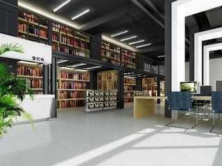 现代大学生图书馆装修效果图