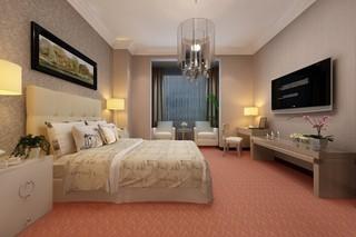 现代风格宾馆单间装修效果图