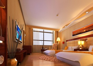 主题宾馆房间装修装饰效果图