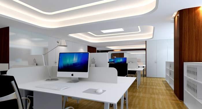 1500平方展示器材制造办公室装修设计