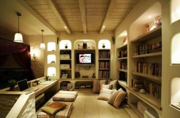 欧美风情小户型一居室装修效果图