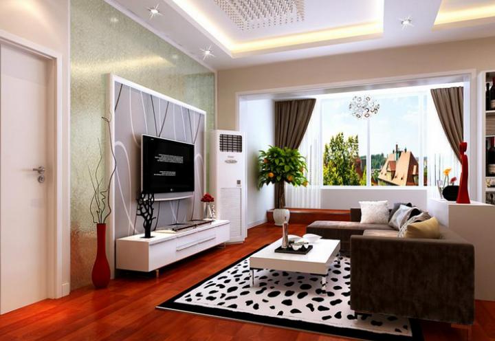 90平二居室现代风格装修效果图