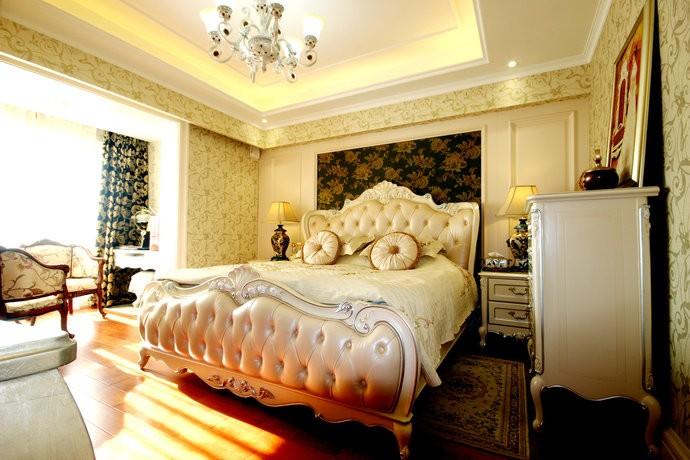 家装效果图 俭朴欧式新古典风格别墅卧室装修效果图