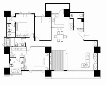 200平现代风格别墅室 ...