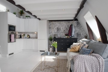 40平米閣樓北歐風格小戶型復式裝修效果圖