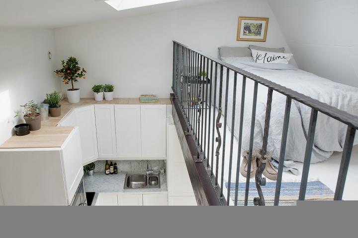 40平米阁楼北欧风格小户型复式装修效果图