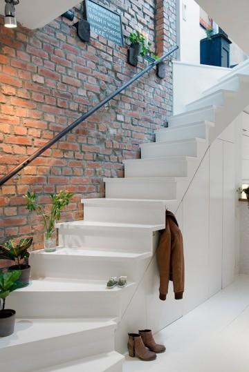 清爽柔和北欧风格复式装修设计效果图