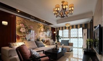 华贵中式风格客厅装修效果图实景图