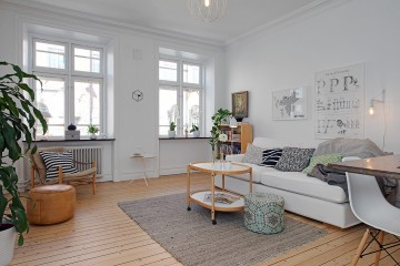 60平米北欧风格公寓装修效果图