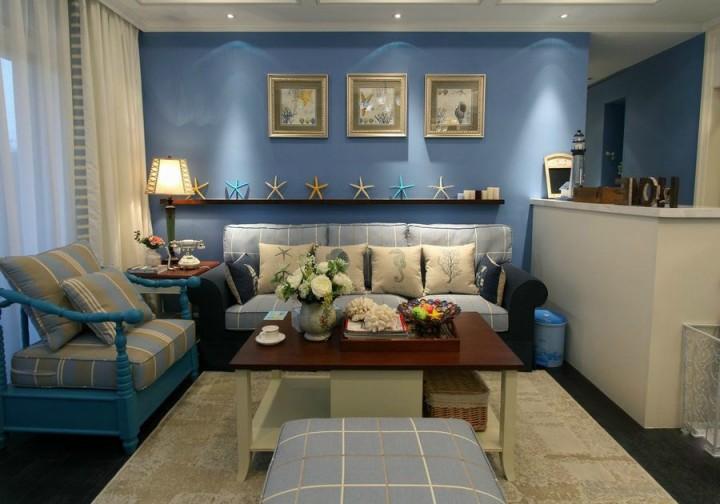 118平浪漫地中海设计,活跃色彩的公寓