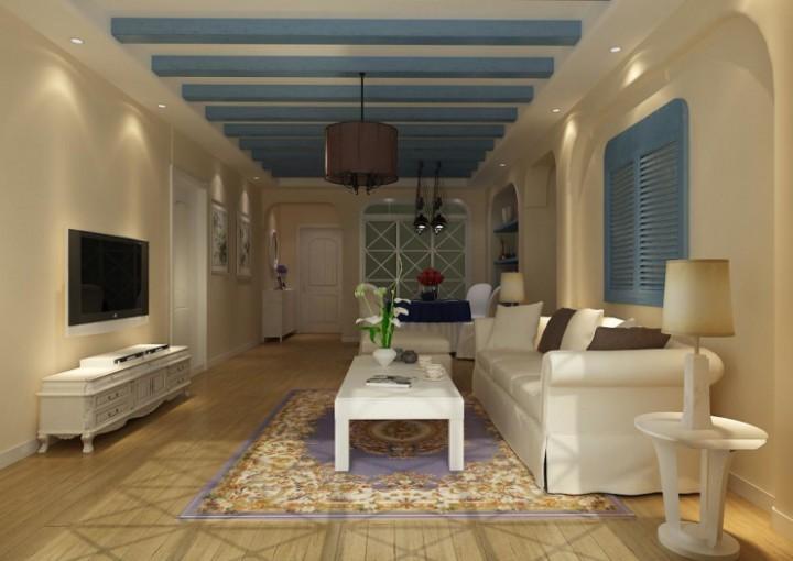 海信璞园三室两厅115平米装修效果图