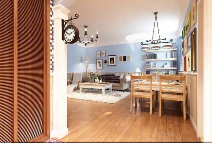 城市生活98平米三室两厅装修效果图